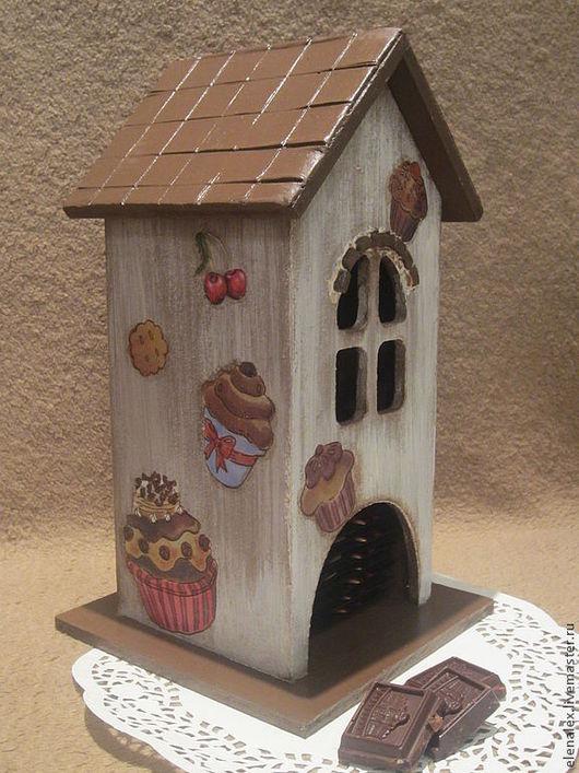 """Кухня ручной работы. Ярмарка Мастеров - ручная работа. Купить Чайный домик """"Шоколадный"""". Handmade. Бежевый, шоколад"""
