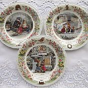 Винтаж handmade. Livemaster - original item The plate is from the Wedgwood Foxwood Tales Tales of the Fox of the forest. Handmade.