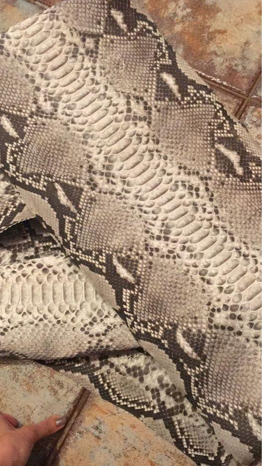 Аппликации, вставки, отделка ручной работы. Ярмарка Мастеров - ручная работа. Купить Шкура питона натурального цвета. Handmade. Шкура