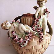 Винтаж handmade. Livemaster - original item Antique Vase Amphora Porcelain Czechoslovakia 1918. Art Deco. Handmade.