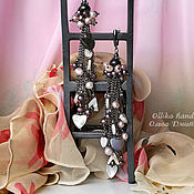 Украшения ручной работы. Ярмарка Мастеров - ручная работа Серьги Черная Орхидея, длинные серьги с жемчугом, черные жемчужные. Handmade.