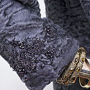 "Одежда ручной работы. Ярмарка Мастеров - ручная работа Шуба ""Каракуль.Лаванда"". Handmade."