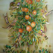 """Картины и панно ручной работы. Ярмарка Мастеров - ручная работа Картина """" Апельсиновое дерево с райскими птичками"""". Handmade."""