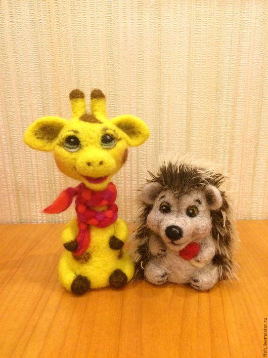 Кукольный театр ручной работы. Ярмарка Мастеров - ручная работа. Купить Пальчиковая игрушка. Handmade. Жираф, мартышка, джунгли, бибабо