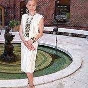 """Одежда ручной работы. Ярмарка Мастеров - ручная работа Валяное платье """"Крем"""" нуно. Handmade."""