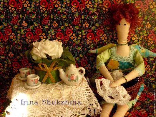 Куклы Тильды ручной работы. Ярмарка Мастеров - ручная работа. Купить ШАльная фея. Handmade. Бежевый, ручная работа