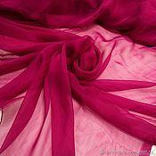 Материалы для творчества handmade. Livemaster - original item Fabric: Chiffon silk fuchsia. Handmade.