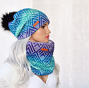 Аксессуары handmade. Livemaster - original item Set winter