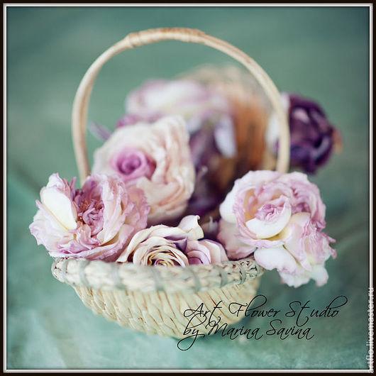 """Цветы ручной работы. Ярмарка Мастеров - ручная работа. Купить """"Розовое ассорти""""-  брошь, ободок, аксессуар в причёску. Handmade."""