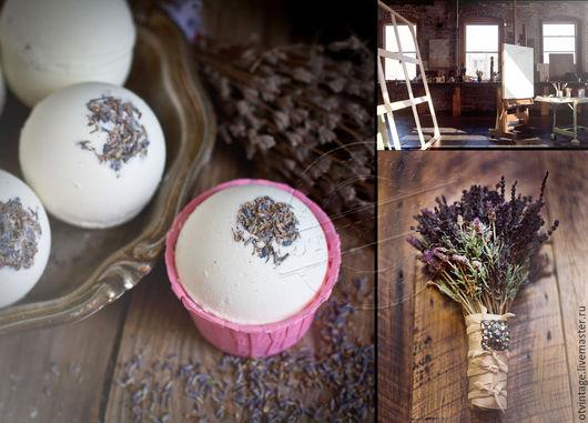 """Бомбы для ванны ручной работы. Ярмарка Мастеров - ручная работа. Купить Бомбочка для ванной """"Лаванда и молоко"""". Handmade. Белый, релаксация"""