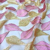 Великолепная сеточка  ALTA MODA Листочки на розовом