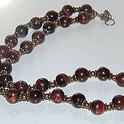 Украшения handmade. Livemaster - original item Beads from natural stones - tiger`s eye. Handmade.