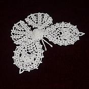 handmade. Livemaster - original item Crocheted butterfly applique. Handmade.