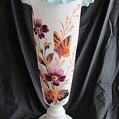 Винтаж handmade. Livemaster - original item 41cm 19th century ANTIQUE VASE BOHEMIAN glass HANDCRAFTED.PAINTING. Handmade.