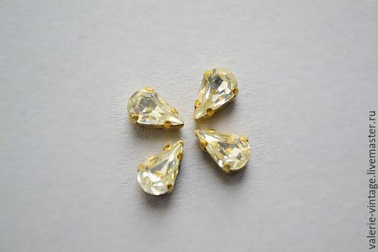 Для украшений ручной работы. Ярмарка Мастеров - ручная работа. Купить Винтажные кристаллы Swarovski 8х4,8 мм. цвет Crystal. Handmade.