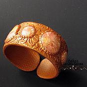 Украшения ручной работы. Ярмарка Мастеров - ручная работа Украшение браслет Золотой из полимерной глины розовый. Handmade.