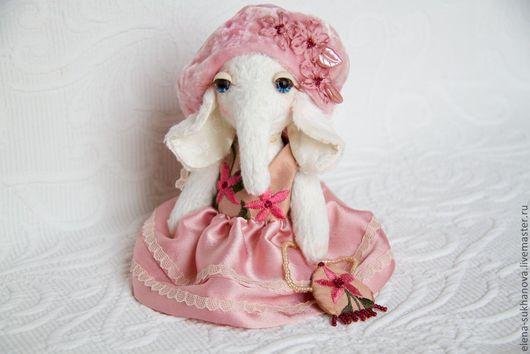 """Мишки Тедди ручной работы. Ярмарка Мастеров - ручная работа. Купить Слоник в стиле шебби """"Матильда"""". Handmade. Розовый"""