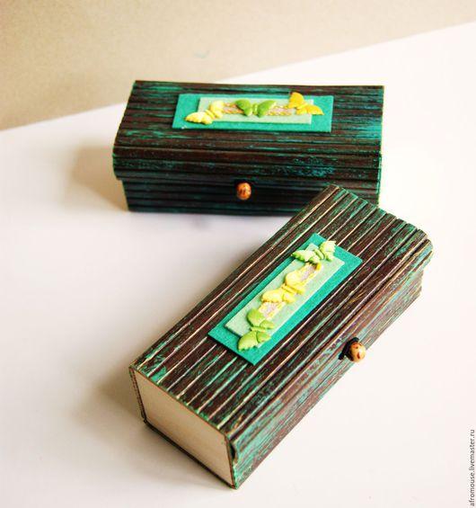 бамбуковые коробочки с декором