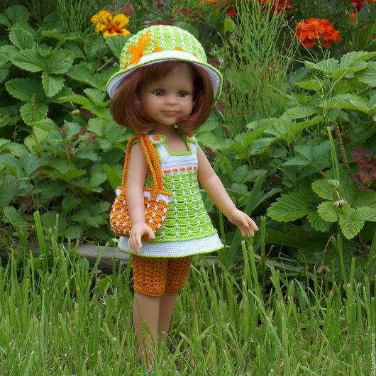 Одежда для кукол ручной работы. Ярмарка Мастеров - ручная работа. Купить Лайм+апельсин - наряд  для куклы Paola Reina. Handmade.