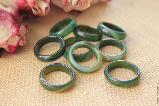 Минералы, друза ручной работы. Ярмарка Мастеров - ручная работа. Купить Кольцо из агата зеленого (KGS0002). Handmade. Тёмно-зелёный