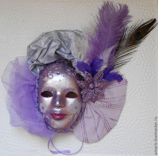 Интерьерные  маски ручной работы. Ярмарка Мастеров - ручная работа. Купить Маска венецианская, карнавальная, интерьерная. Авторская работа. Handmade.