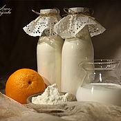 """Косметика ручной работы. Ярмарка Мастеров - ручная работа """"Апельсиновое Молоко"""" для ванны. Handmade."""
