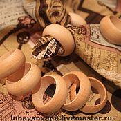 Заготовки для декупажа и росписи ручной работы. Ярмарка Мастеров - ручная работа Кольца деревянные для сервировки салфетками. Handmade.