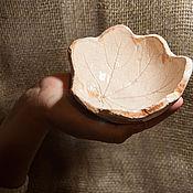 Посуда ручной работы. Ярмарка Мастеров - ручная работа осенний лист. Handmade.