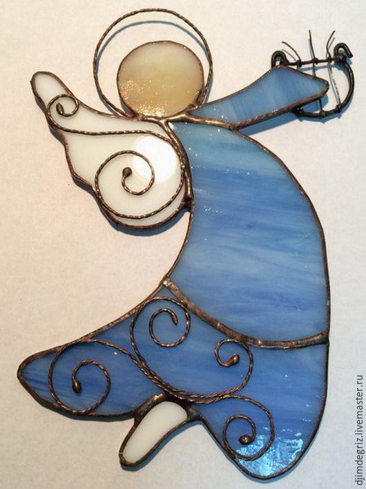 Элементы интерьера ручной работы. Ярмарка Мастеров - ручная работа. Купить Ангел. Handmade. Тиффани, стекло, подвеска, стекло витражное