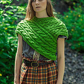 "Одежда handmade. Livemaster - original item Knit Woollen Snood ""Green Tara"". Handmade."
