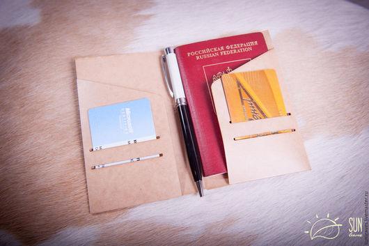 Папки для бумаг ручной работы. Ярмарка Мастеров - ручная работа. Купить Бумажная папка-карман Field-Notes size. Handmade.