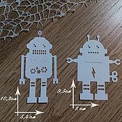 Материалы для творчества handmade. Livemaster - original item !Cutting for scrapbooking A SET of ROBOTS large.R OBOT for boys. Handmade.
