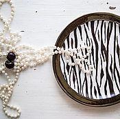 Посуда handmade. Livemaster - original item Zebra. Handmade plate, ceramics. Handmade.