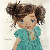 Куклы и игрушки ручной работы. Ярмарка Мастеров - ручная работа Девочка в бирюзе. Handmade.