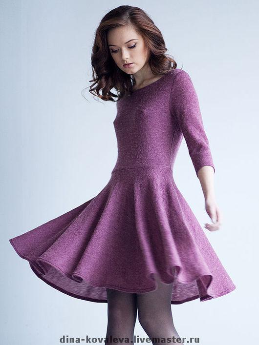 Платья ручной работы. Ярмарка Мастеров - ручная работа. Купить платье шерстяное. Handmade. Платье, юбка-солнце, тепло, зима