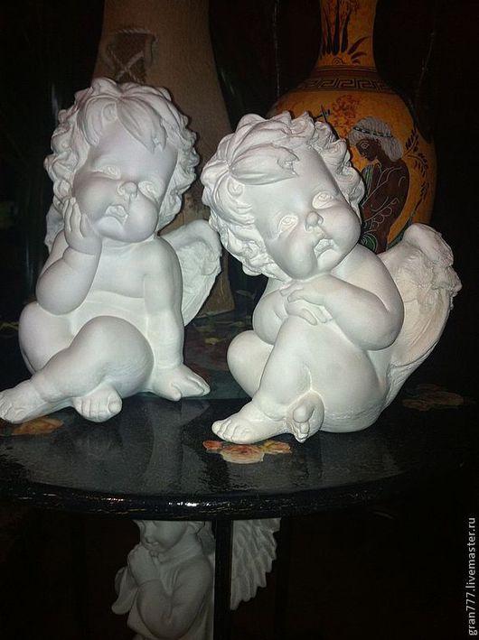 Статуэтки ручной работы. Ярмарка Мастеров - ручная работа. Купить Ангелочки. Handmade. Ангелы, краски акриловые