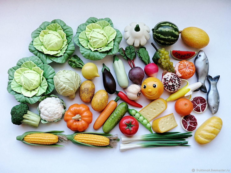 Кукольная еда. Еда для кукол. Овощи и фрукты из полимерной глины, Кукольная еда, Москва,  Фото №1