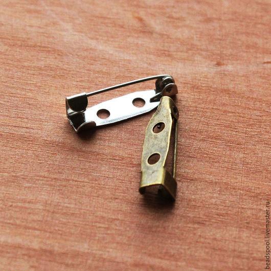 Для украшений ручной работы. Ярмарка Мастеров - ручная работа. Купить Основа для броши 20 мм бронза/серебро. Handmade.
