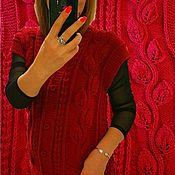 Одежда handmade. Livemaster - original item Women`s vest handmade Knitted warm vest Cardigan female. Handmade.
