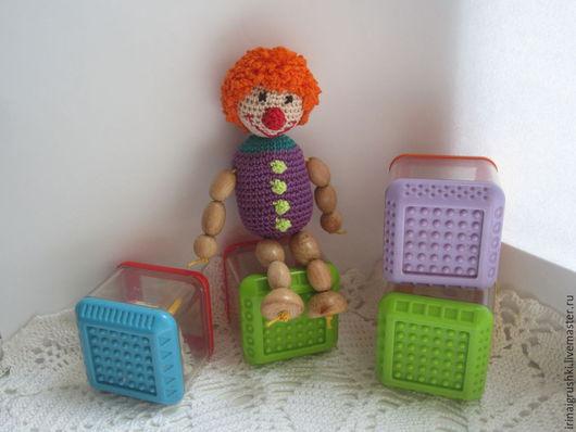 Развивающие игрушки ручной работы. Ярмарка Мастеров - ручная работа. Купить Погремушка Клоун. Handmade. Разноцветный, веселый клоун