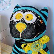 Куклы и игрушки ручной работы. Ярмарка Мастеров - ручная работа Кот кислотный - игрушка. Handmade.