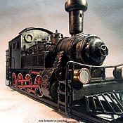 "Для дома и интерьера handmade. Livemaster - original item Watch locomotive ""Tank"". Handmade."