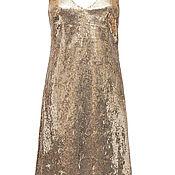 Одежда handmade. Livemaster - original item Gold chemise dress. Handmade.