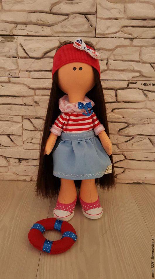 Куклы тыквоголовки ручной работы. Ярмарка Мастеров - ручная работа. Купить Текстильная кукла ручной работы. Handmade. Синий