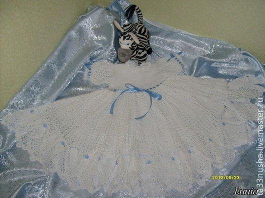 Крестильные принадлежности ручной работы. Ярмарка Мастеров - ручная работа. Купить Платье для крещения 100% хлопок. Handmade. Белый