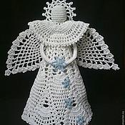 Для дома и интерьера handmade. Livemaster - original item Pineapple angel, Angel crocheted, Christmas angel. Handmade.