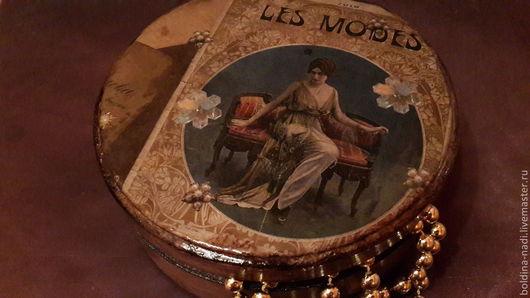 """Шкатулки ручной работы. Ярмарка Мастеров - ручная работа. Купить Шкатулка """"Les modes"""". Handmade. Ретро, мдф"""