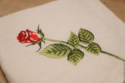 Текстиль, ковры ручной работы. Ярмарка Мастеров - ручная работа. Купить Салфетки столовые. Розы. Handmade. Комбинированный, салфетки с вышивкой
