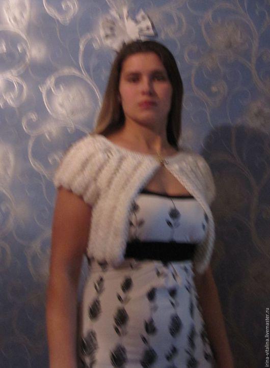 """Болеро, шраг ручной работы. Ярмарка Мастеров - ручная работа. Купить Болеро """"Принцесса Лебедь"""". Handmade. Белый, болеро нарядное"""