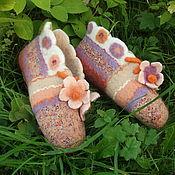 Обувь ручной работы. Ярмарка Мастеров - ручная работа ,,Цветочный микс``. Handmade.